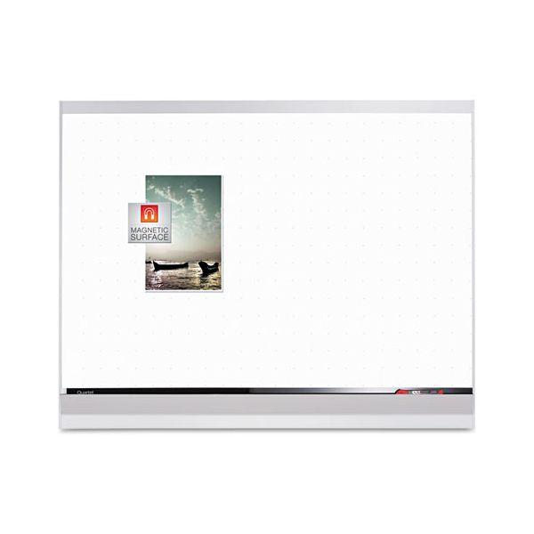 Quartet Porcelain Whiteboard, 48x36, White/Mahogany