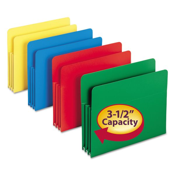 Smead Colored Poly Expanding File Pockets
