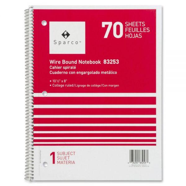 Sparco Quality Wirebound Notebook