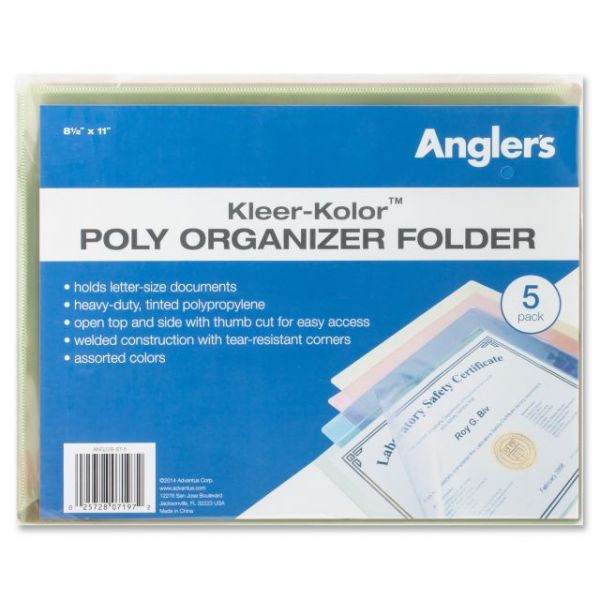 Anglers Kleer-Kolor Poly File Folders