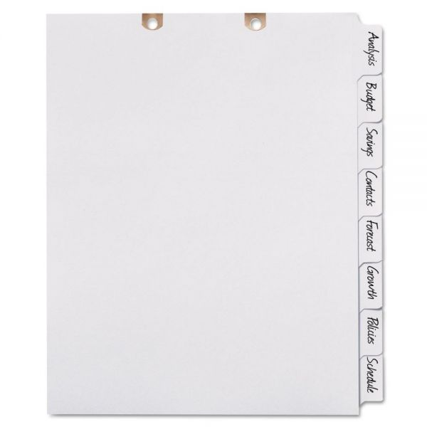 Avery Write-On Tab Dividers for Classification Folders, 8-Tab, White Tab, Letter, 1 Set