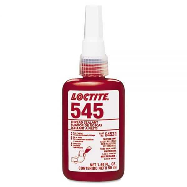 Loctite 545 Thread Sealant, For Hydraulic/Pneumatic Fittings,10mL