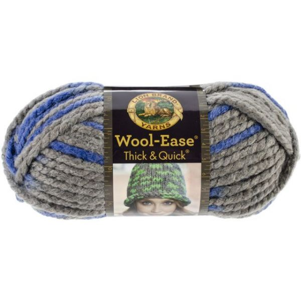 Lion Brand Wool-Ease Thick & Quick Yarn - Bluebird