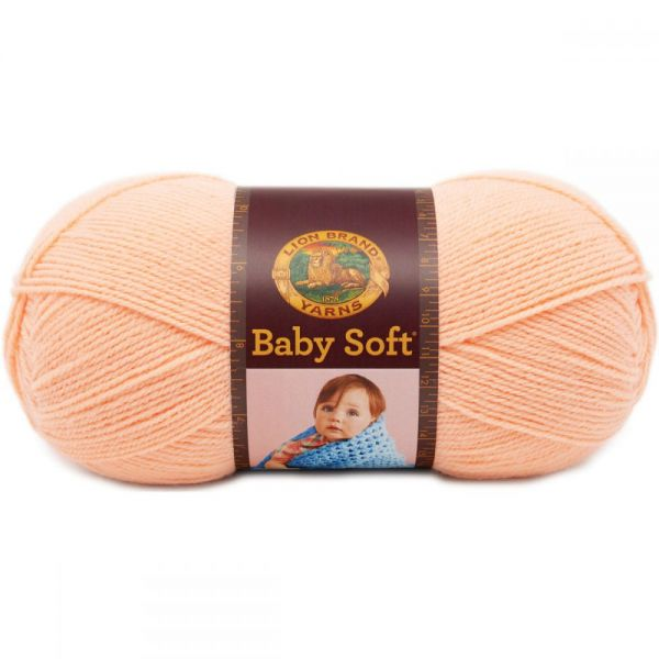 Lion Brand Baby Soft Yarn - Creamsicle