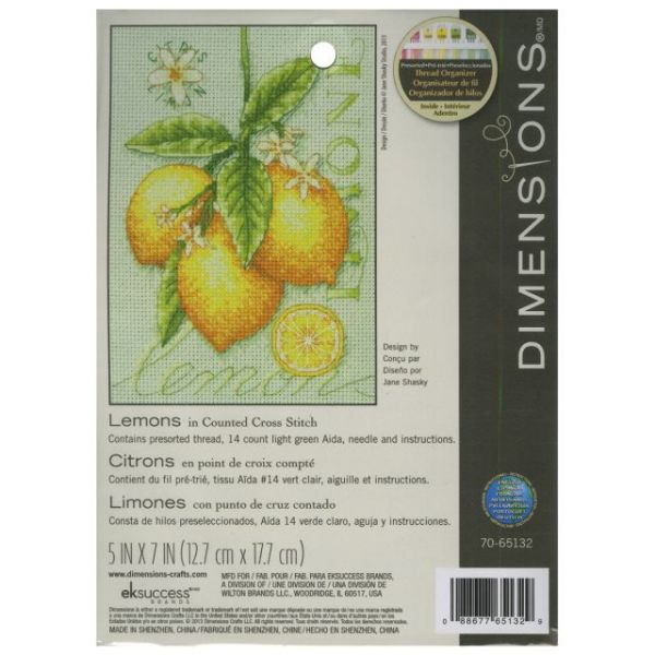 Lemons Mini Counted Cross Stitch Kit