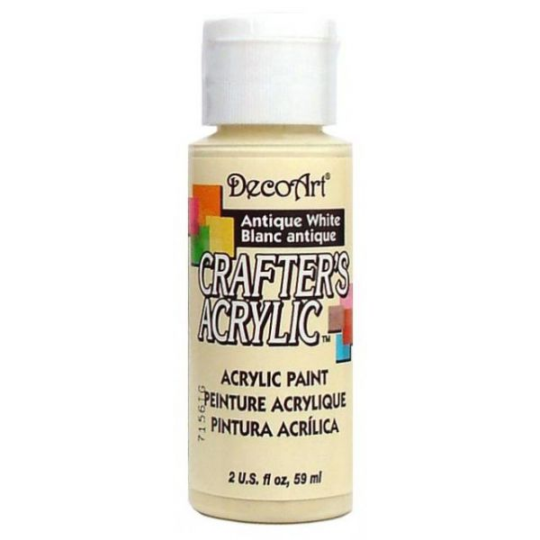 Deco Art Crafter's Acrylic Antique White Acrylic Paint