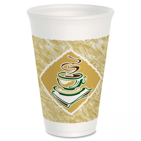 Dart Cafe 16 oz Foam Coffee Cups