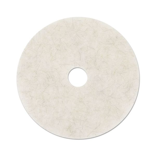 "3M Ultra High-Speed Natural Blend Floor Burnishing Pads 3300, 27"" Dia., White, 5/CT"