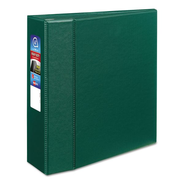 "Avery Heavy-Duty 3-Ring Binder with One Touch EZD Rings, 4"" Capacity, Green"