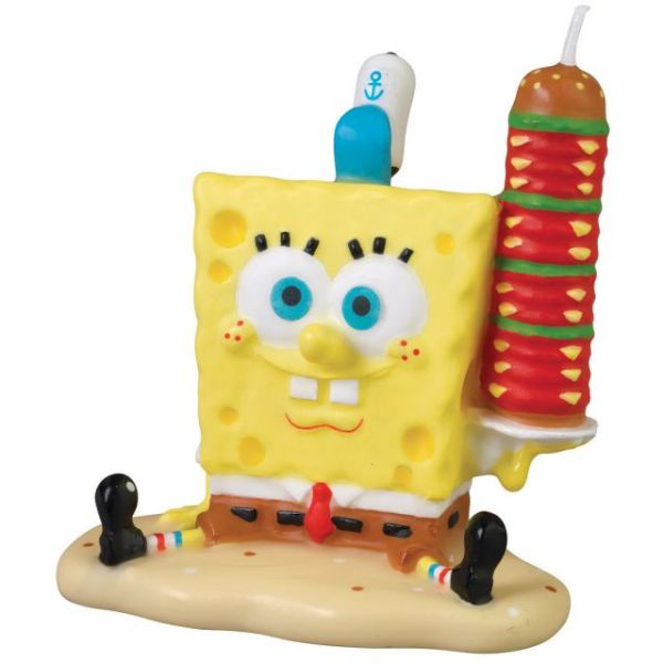 Spongebob Birthday Candle