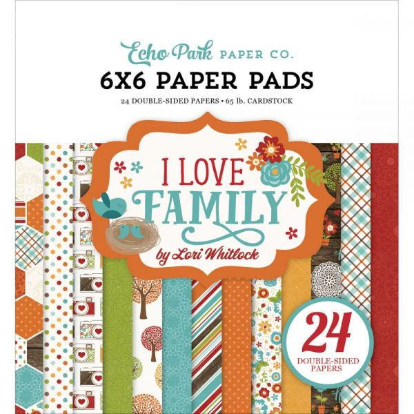 "Echo Park Double-Sided Paper Pad 6""X6"" 24/Pkg"