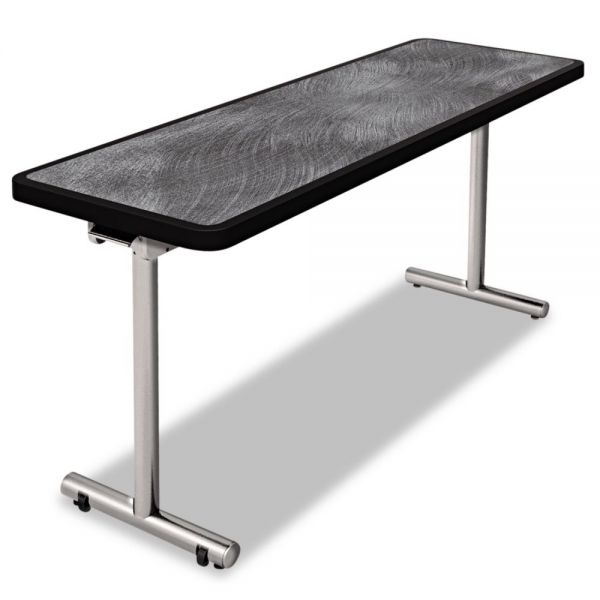 Nomad by Palmer Hamilton aero Mobile Folding Table, 72 x 24 x 29, Pewter