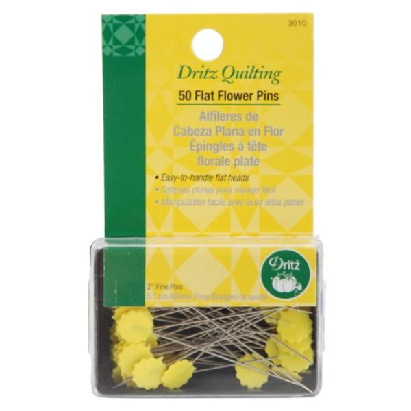 Dritz Quilting Flat Flower Pins