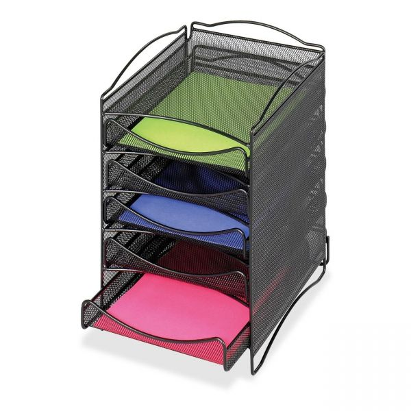 Safco 5-Compartment Mesh Desktop Organzier