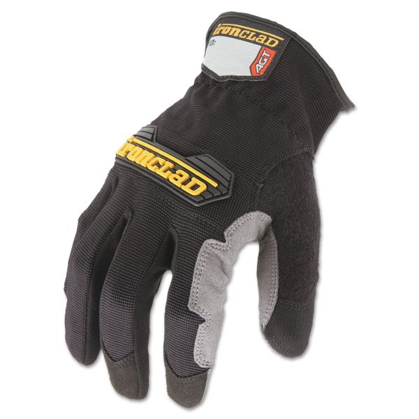 Ironclad Workforce Glove, Medium, Gray/Black, Pair