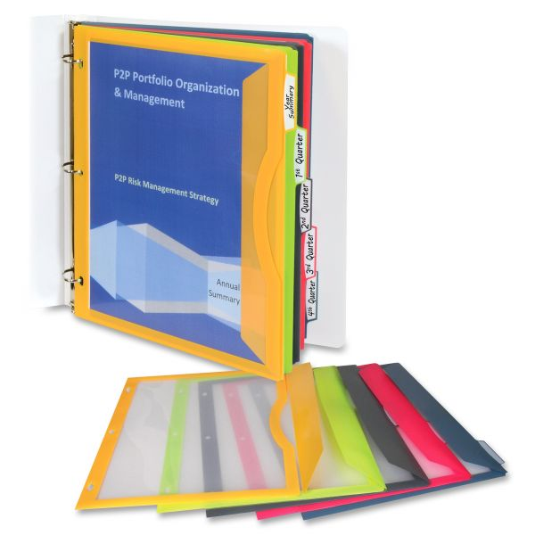 C-Line Binder Pockets With Write-On Index Tabs