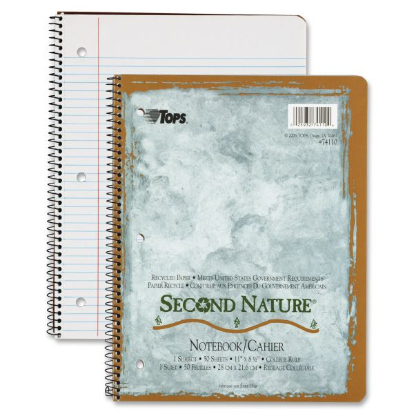 TOPS Second Nature Subject Notebook