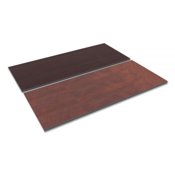 Alera Reversible Laminate Table Top, Rectangular, 71 1/2 x 29 1/2, Med Cherry/Mahogany