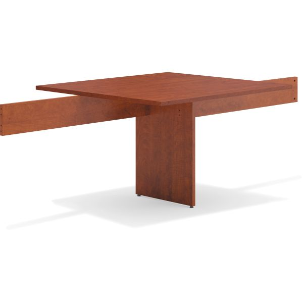 basyx BL Laminate Series Modular Conference Table Adder, 48 x 44 x 29 1/2, Med Cherry