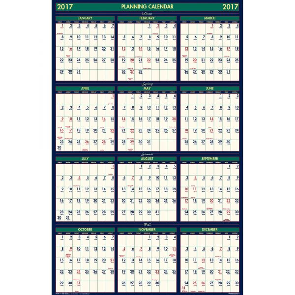 House of Doolittle Reversible Academic Yearly Wall Calendar