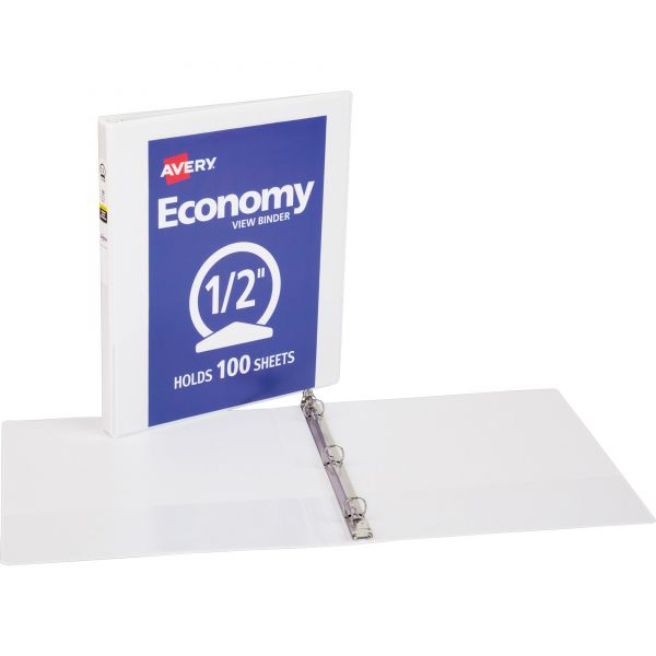 """Avery Economy Reference 1/2"""" 3-Ring View Binder"""