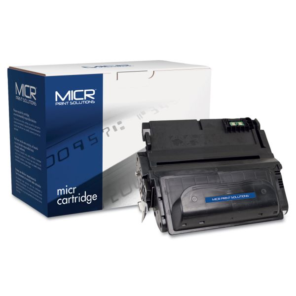MICR Print Solutions Compatible with Q1338AM MICR Toner, 12,000 Page-Yield, Black
