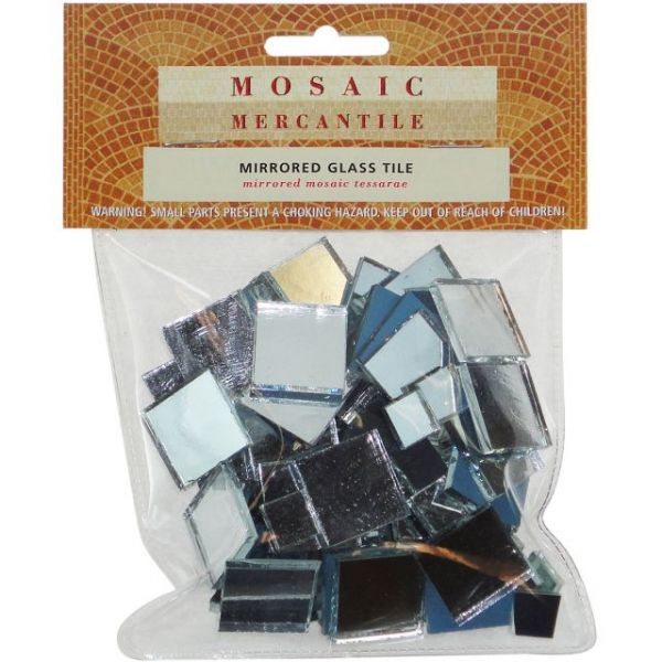 Mirrored Glass Tiles 100/Pkg