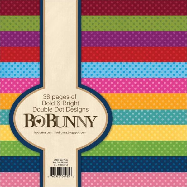 BoBunny Double Dot Bold & Bright Paper Pad