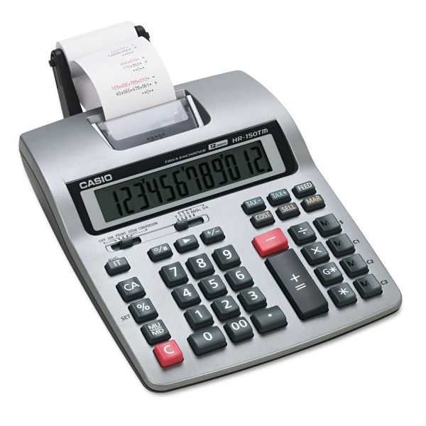 Casio HR-150TM Two-Color Printing Calculator