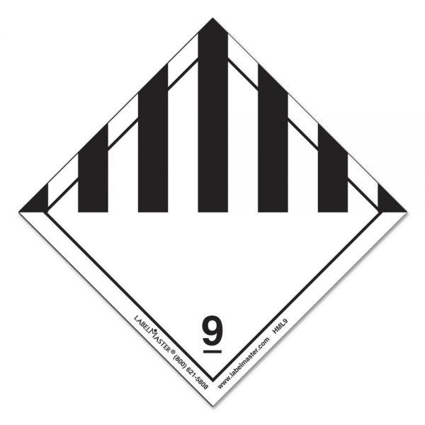 LabelMaster Hazmat Self-Adhesive Shipping Label, 5 x 4 1/2, HAZARD CLASS 9, 500/Roll