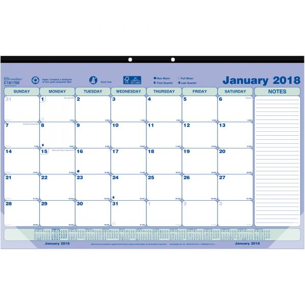 Brownline Monthly Desk Pad/Wall Calendar