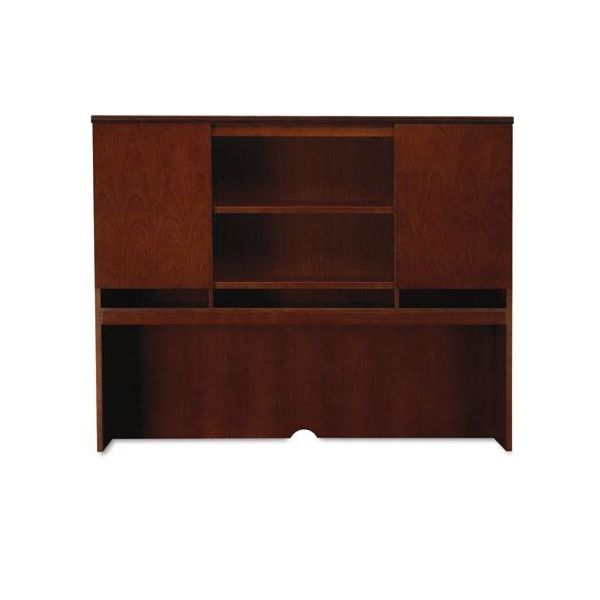 Tiffany Industries Sorrento Series Hutch with Wood Doors, 72w, Bourbon Cherry