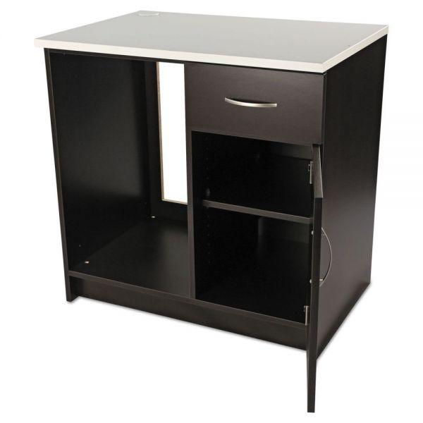 Alera Plus Hospitality Base Cabinet, One Door/Drawer, 36 x 24 x 36, Espresso/White