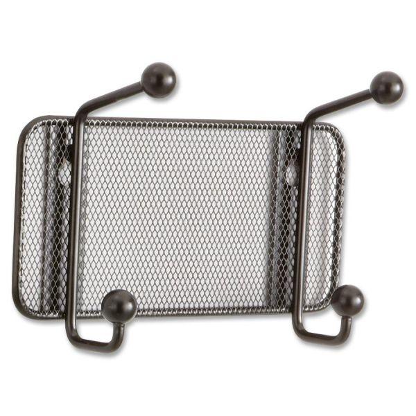 Safco Onyx Mesh Wall Racks, 2-Hook, Steel