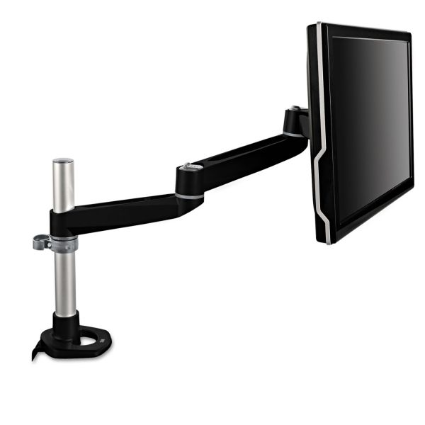 3M Dual-Swivel Monitor Arm, 4 1/2 x 19 1/2, Black/Gray