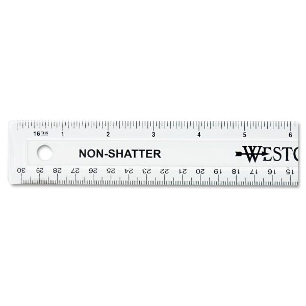 Westcott Non-Shatter Clear Ruler
