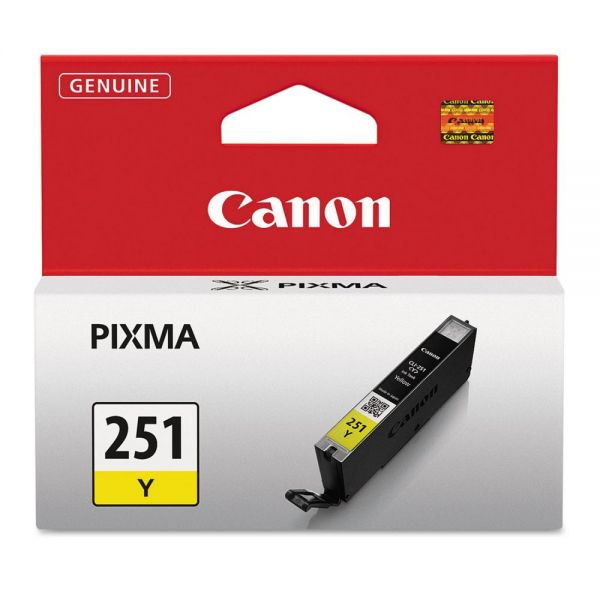 Canon CLI-251Y Yellow Ink Cartridge (6516B001)