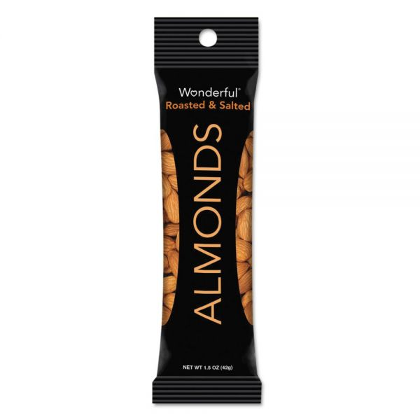 Paramount Farms Wonderful Almonds, Dry Roasted & Salted, 1.5 oz, 12/Box