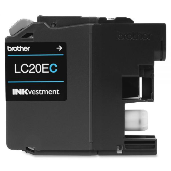Brother LC20EC Super High Yield Cyan Ink Cartridge