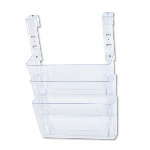 Deflect-o Three-Pocket Partition Hanging Wall File Pockets