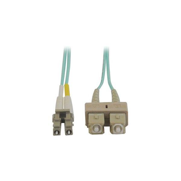 Tripp Lite 1M 10Gb Duplex Multimode 50/125 OM3 LSZH Fiber Optic Patch Cable LC/SC Aqua 3' 3ft 1 Meter