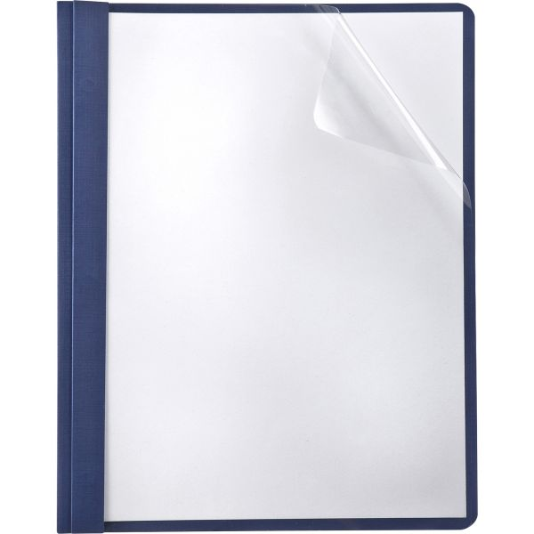 Oxford Linen Finish Clear Front Report Covers