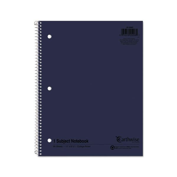 Oxford Earthwise by Oxford Recycled 1-Subject Notebooks, 11 x 8 1/2, 80 Sheets