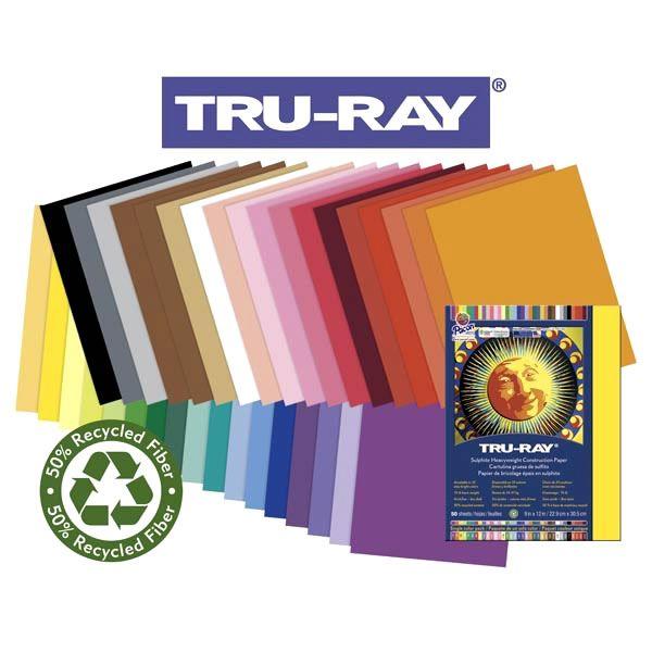 Tru-Ray Sulphite Black Construction Paper