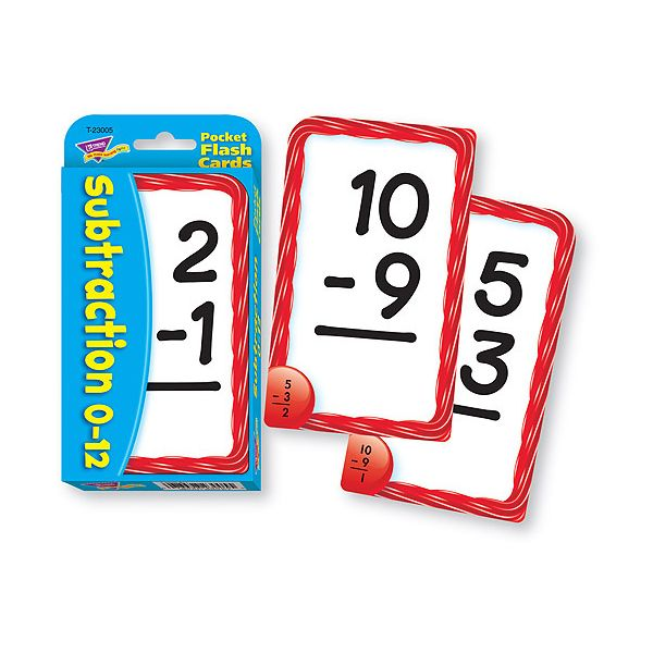 Trend Subtraction Pocket Flash Cards