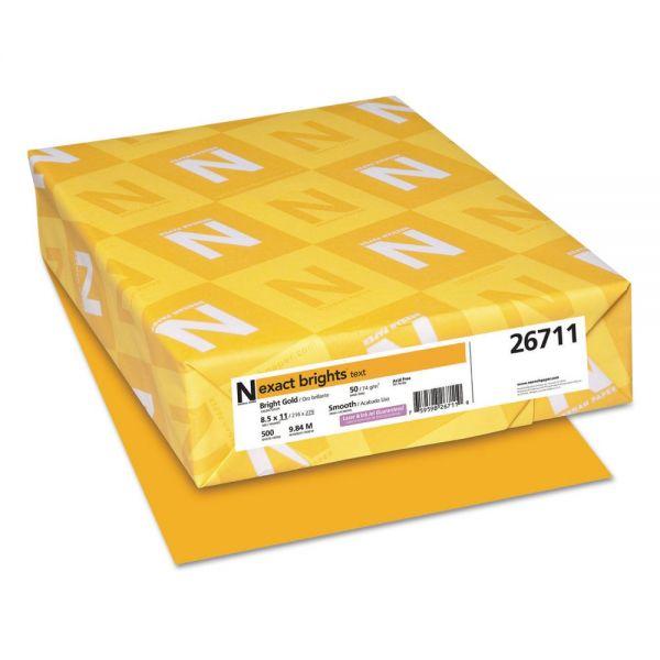 Neenah Paper Exact Brights Paper, 8 1/2 x 11, Bright Gold, 20lb, 500 Sheets