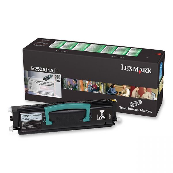 Lexmark E250A11A Black Return Program Toner Cartridge