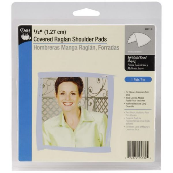 "1/2"" Covered Raglan Shoulder Pads 2/Pkg"