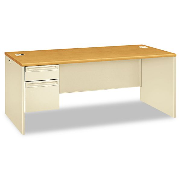 HON 38000 Series Left Pedestal Computer Desk