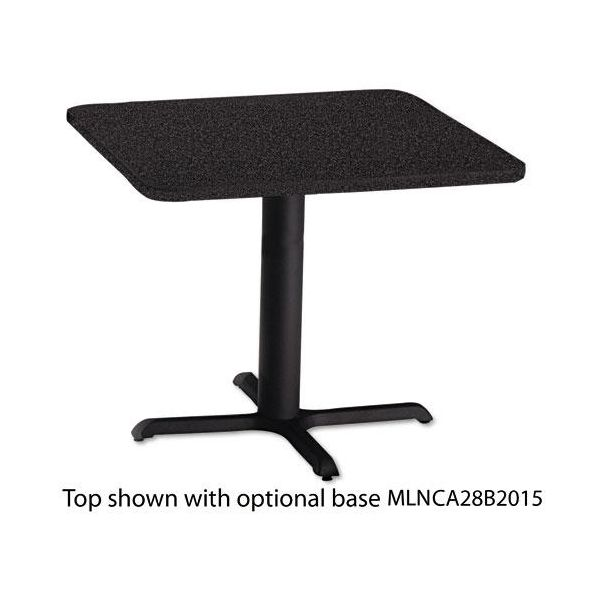 """Tiffany Industries Table Top, 36"""" Square, Charcoal"""